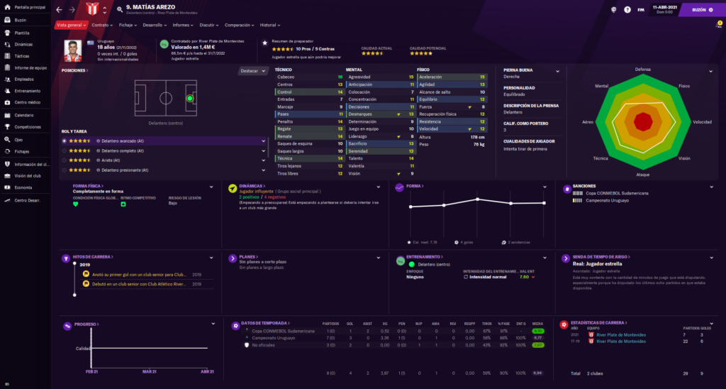 Skin Football Manager 2021